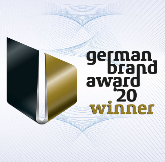 Logo 'Winner' des German Brand Award 2020